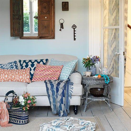 Living room with Ikat designs | housetohome.co.uk