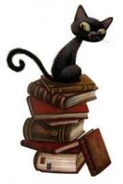 Black cat and Books ~ Benjamin Lacombe art