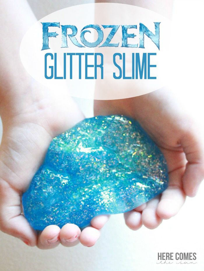 Frozen Glitter Slime! What an amazing idea! So much fun for the kids!