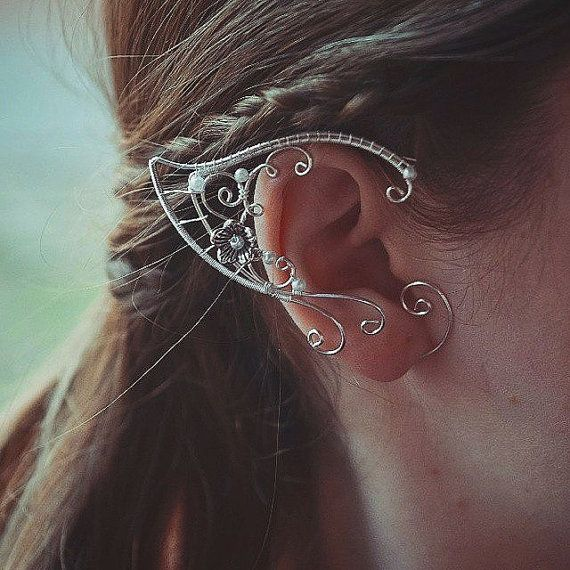 Handmade bright and tender elf-ear ear cuffs. Price is for two cuffs.  PIERCING IS NOT REQUIRED