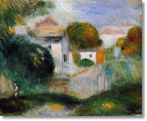 Pierre Auguste Renoir, Houses in the Trees on ArtStack #pierre-auguste-renoir-4 #art