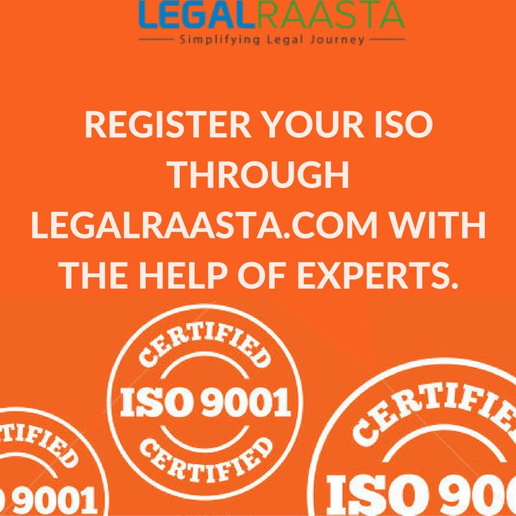 #ISO refers to international quality #standards certification. ISO #certification can help you gain client trust. Get #ISO9001 #ISO22000, #ISO20000 #ISO14001 at Rs 5299. Call #LegalRaasta at #8750008585.
