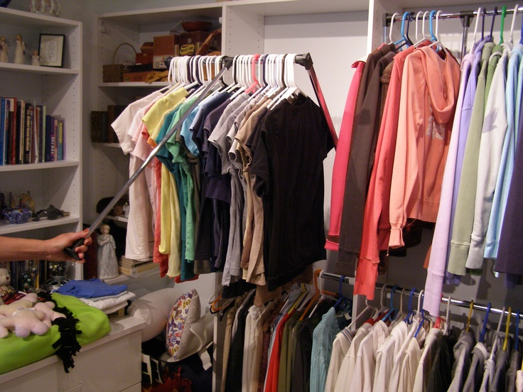 Consider Pull Down Closet Rod System.These Handy Racks Pull Down With Ease,  Letting