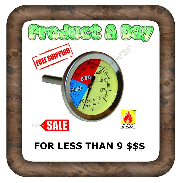 """BBQ 2.5"""" Charcoal Grill Pit Wood Smoker Temp Gauge Thermometer for ONLY 8.89 $$$ http://www.ebay.com/itm/Hyco-BBQ-2-5-034-Charcoal-Grill-Pit-Wood-Smoker-Temp-Gauge-Thermometer-Smoker-SALE-/172511799229?ssPageName=STRK:MESE:IT"""