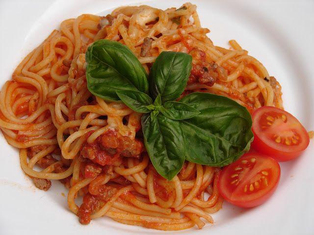 Zážitky jedné rodinky...: Boloňské špagety...
