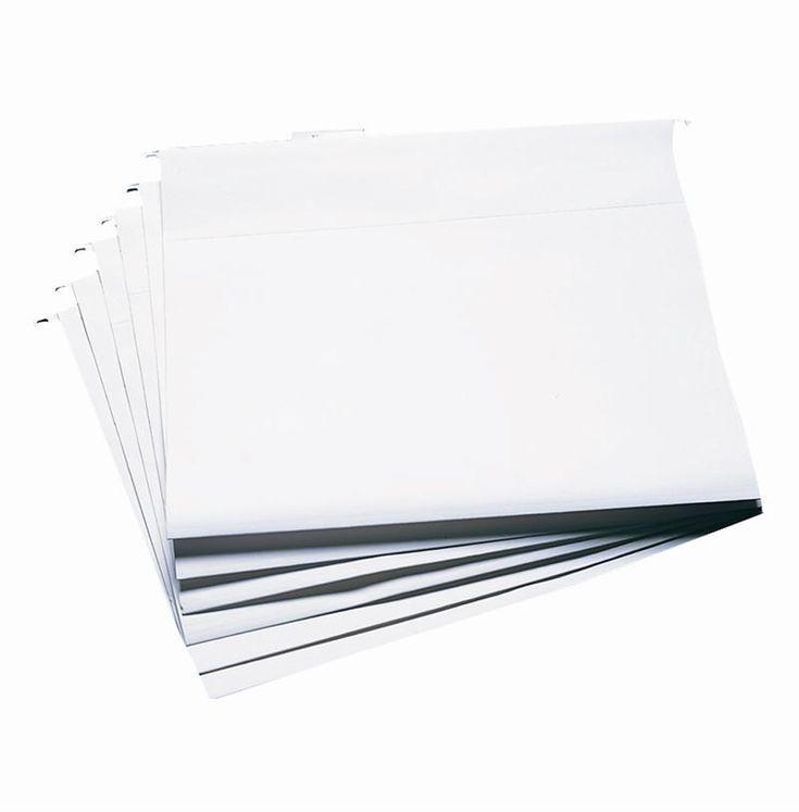 Cropper Hopper 12 x 12 Hanging File Folders (Clear - 6 pack) at Scrapbook.com