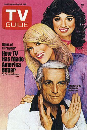 His TV Guide Cover #24: Ted Knight in Too Close for Comfort, July 3, 1982, illustrated by Richard Amsel
