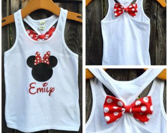 Child's Disney Castle Home Bow Back Tank Top by 31Blossoms on Etsy