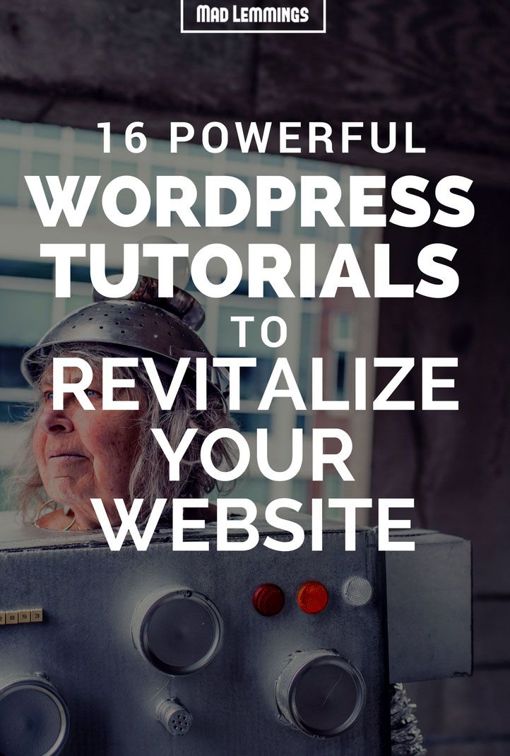 Discover how you can easily pimp up your WordPress website with these simple tutorials - anything from security, marketing, customization and optimization.