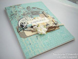 """""""Синяя груша"""": МК для папки свидетельства о браке."""