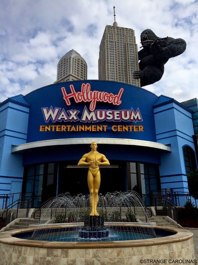 This King Kong/Giant Oscar Statue is located at the  Hollywood Wax Museum in Myrtle Beach, SC where the NASCAR Cafe once stood.
