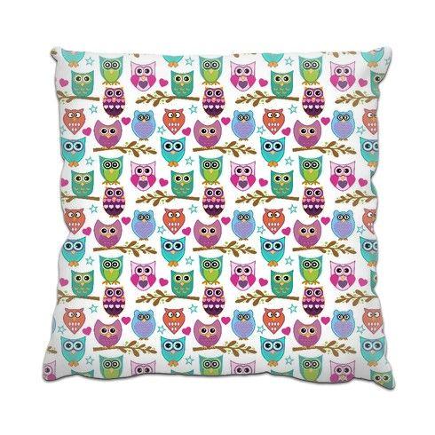 happy owls Cushion by ancello at zippi.co.uk