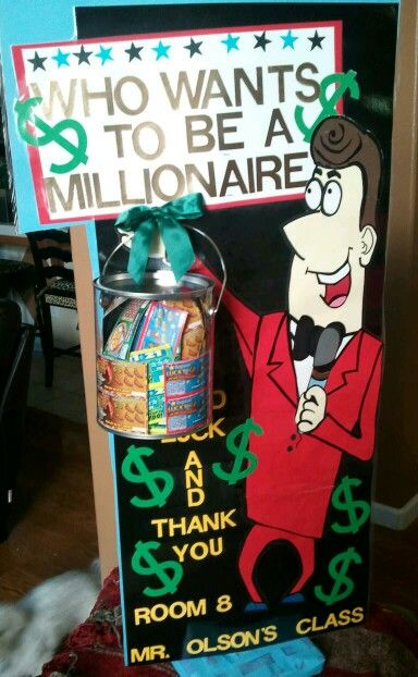 Display For Silent Auction...Lotto Scratch Offs in Bucket