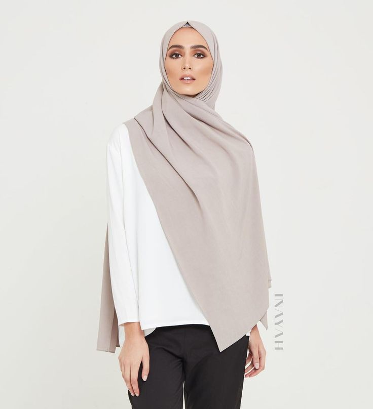 INAYAH | Premium Hijabs - Mink Linen Blend Hijab Available online www.inayah.co