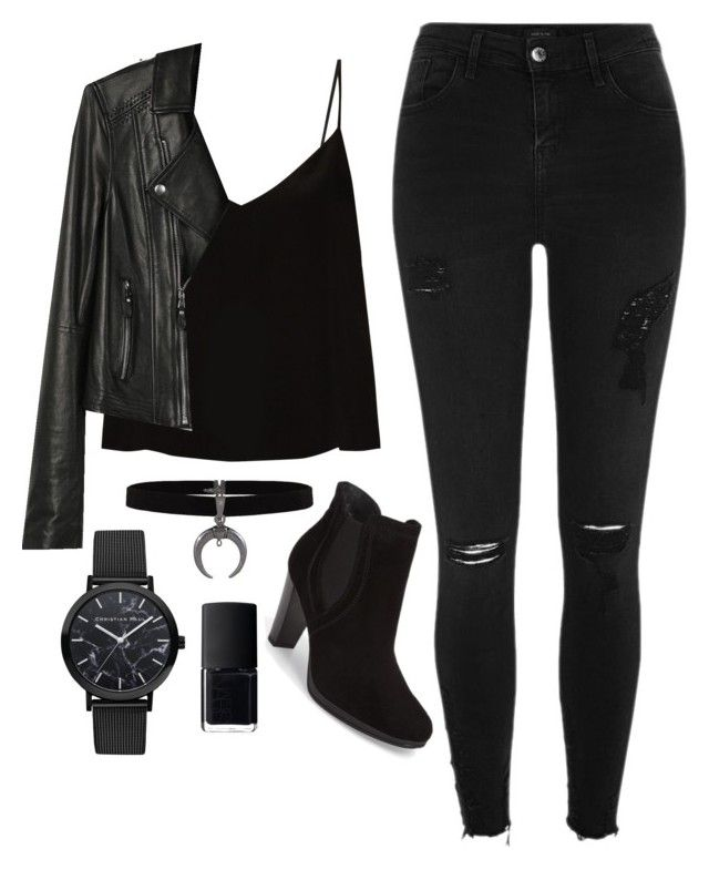 All Black Everything by idanbigler on Polyvore featuring polyvore fashion style Raey Paige Denim River Island Paul Green NARS Cosmetics clothing