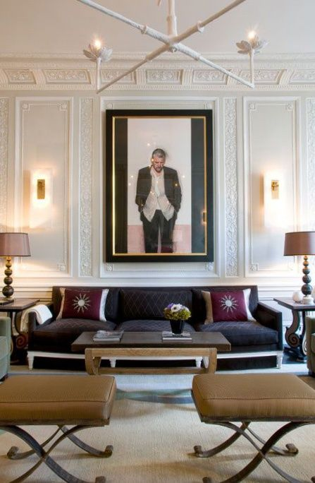 Jean-Louis Deniot ♡ Interior Design/ so very sophisticated for a gentlemen's office or library