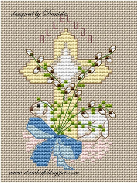 Easter card www.danihaft.blogspot.com