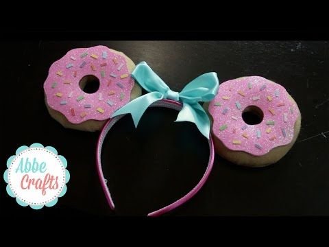 DIY Donut Ears - YouTube                                                                                                                                                                                 More