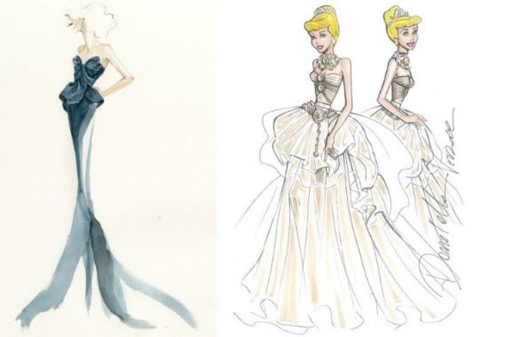 Elie Saab, Oscar de la Renta and Marchesa dress Disney Princesses for Harrods