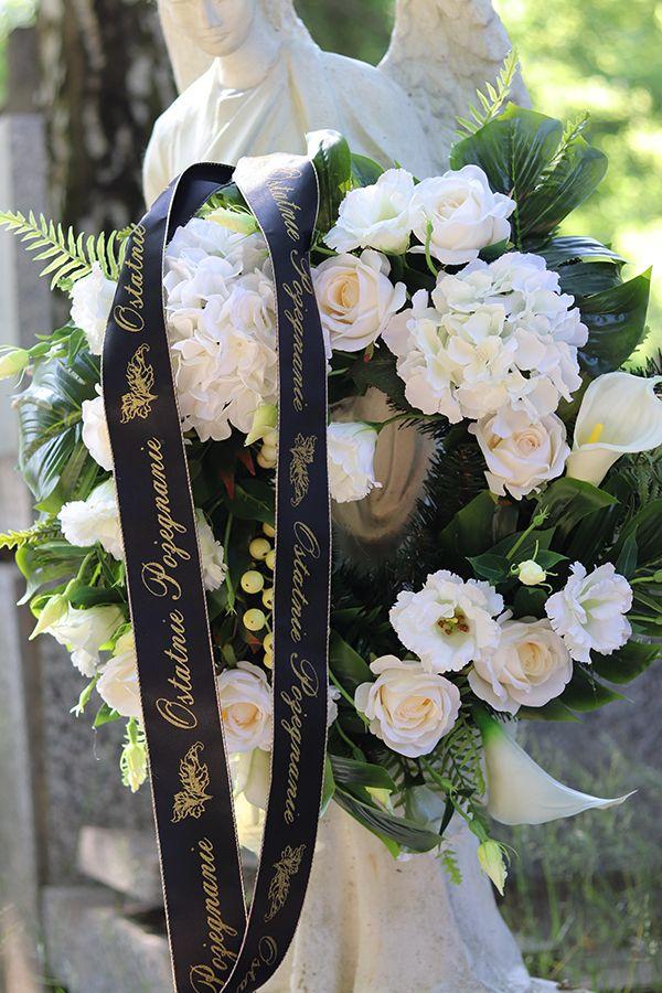 Biala Hortensja Wieniec Wiazanka Pogrzebowa Sr 63cm Floral Floral Tie
