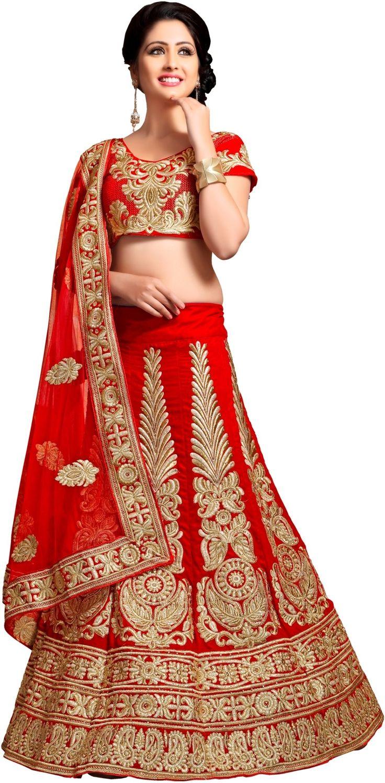 Venisa Self Design Women's Lehenga, Choli and Dupatta Set - Buy Red Venisa Self Design Women's Lehenga, Choli and Dupatta Set Online at Best Prices in India | Flipkart.com