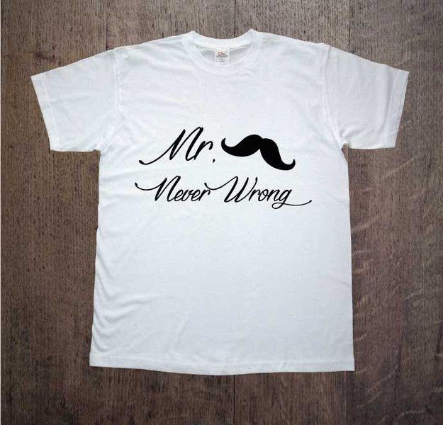 Mr+Never+Wrong,+Męska+koszulka+z+nadrukiem,+w+DDshirt+na+DaWanda.com