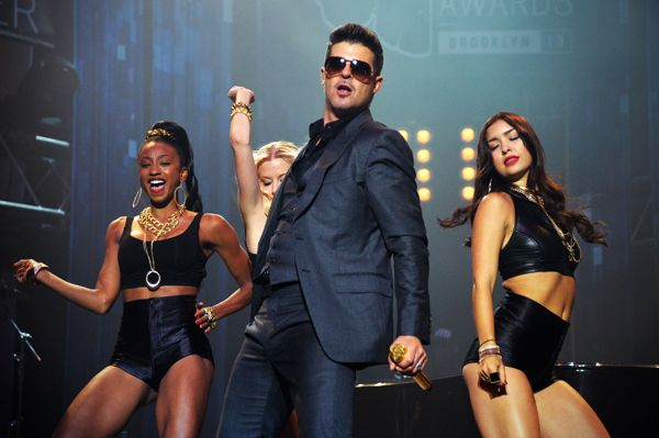 Robin Thicke performs in New York City.