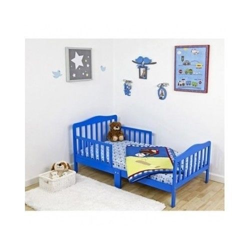 Toddler Bed Dream on me Classic Blue Kids Bedroom Furniture Without Mattress