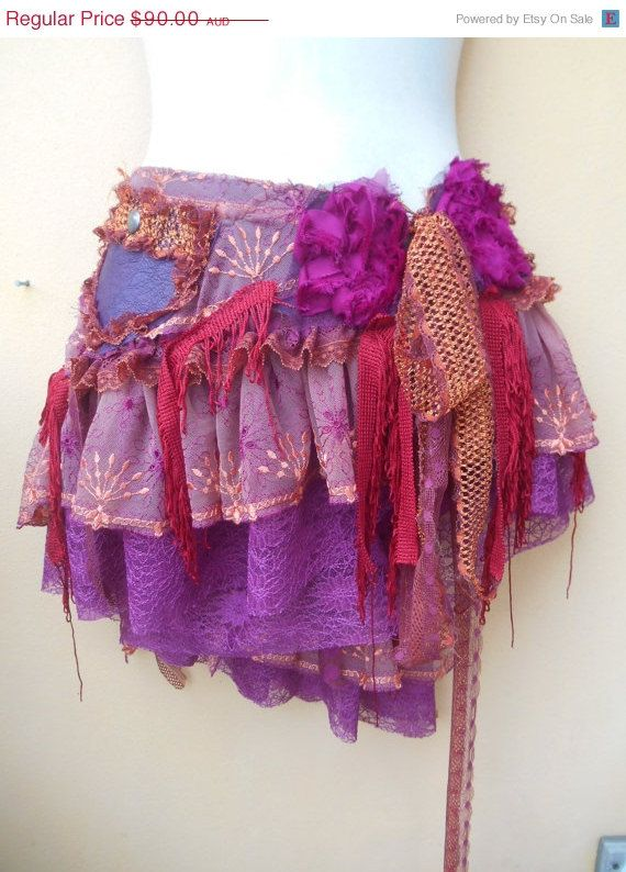 20 OFF BURNING MAN gypsy mini skirt belt with by wildskin on Etsy