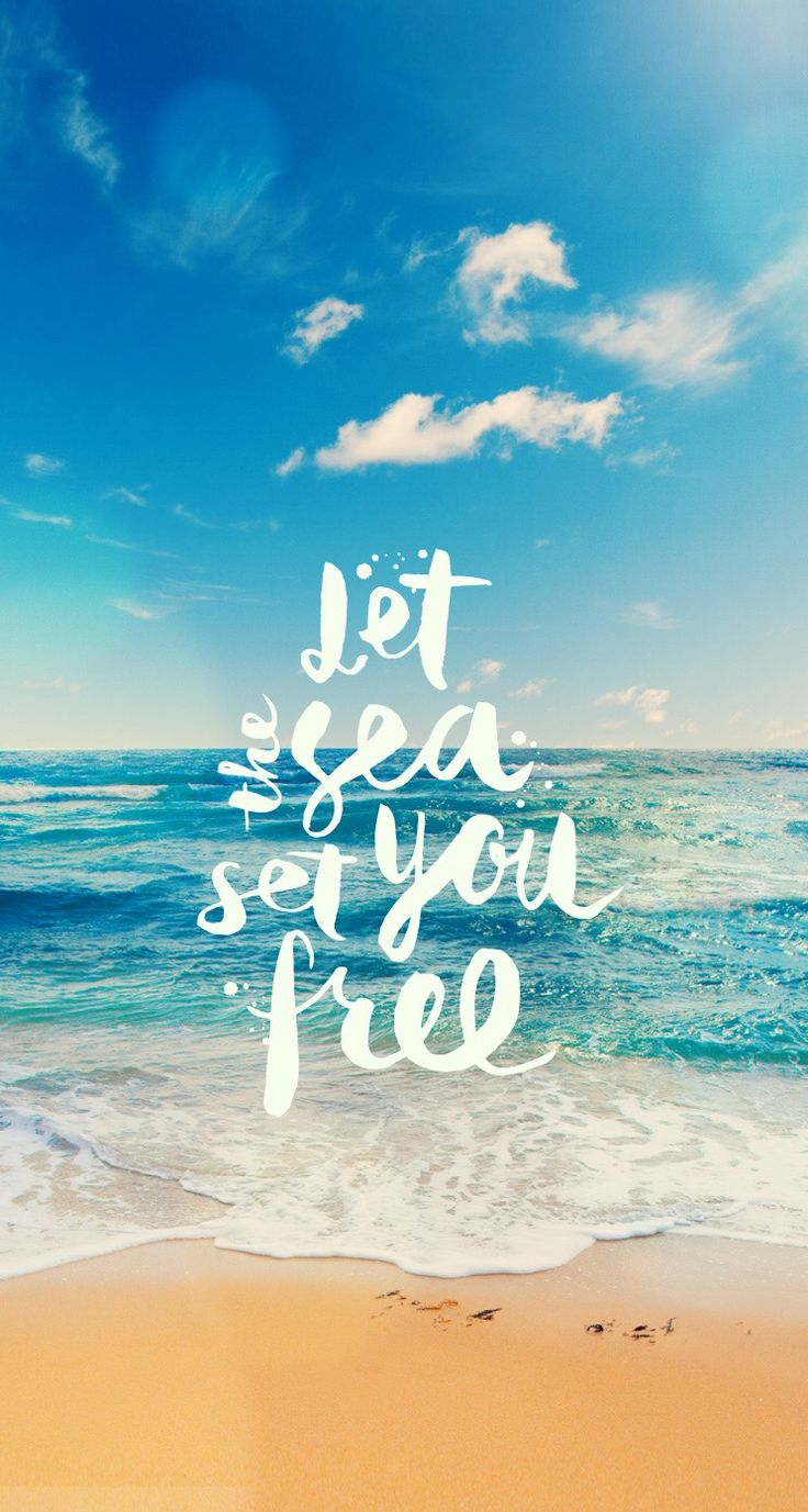 Wallpaper iphone free - Let The Sea Set You Free Iphone Wallpaper Background Lockscreen