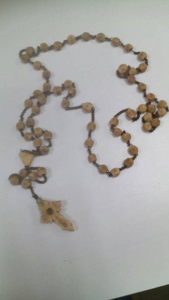 Chapelet osseux précieux ancien  antique par lecoindantant sur Etsy