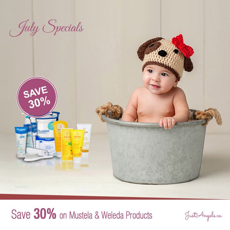 July Specials!! Save 30% on Weleda and Mustela Products till July 31st 2016.