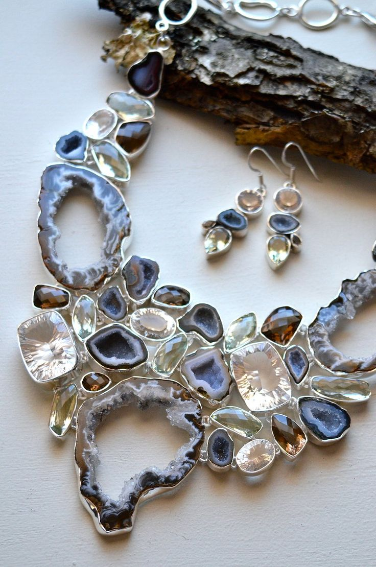 Beautiful jewelry. Seriously, I would wear this at my wedding if I could.★★Timothy John Designs★★◀http://timothyjohndesigns.com◀FIND US @ FACEBOOK◀TWITTER◀INSTAGRAM! semiprecious jewelry necklace earrings bracelets trendy luxurious handcrafted made in NYC USA~!