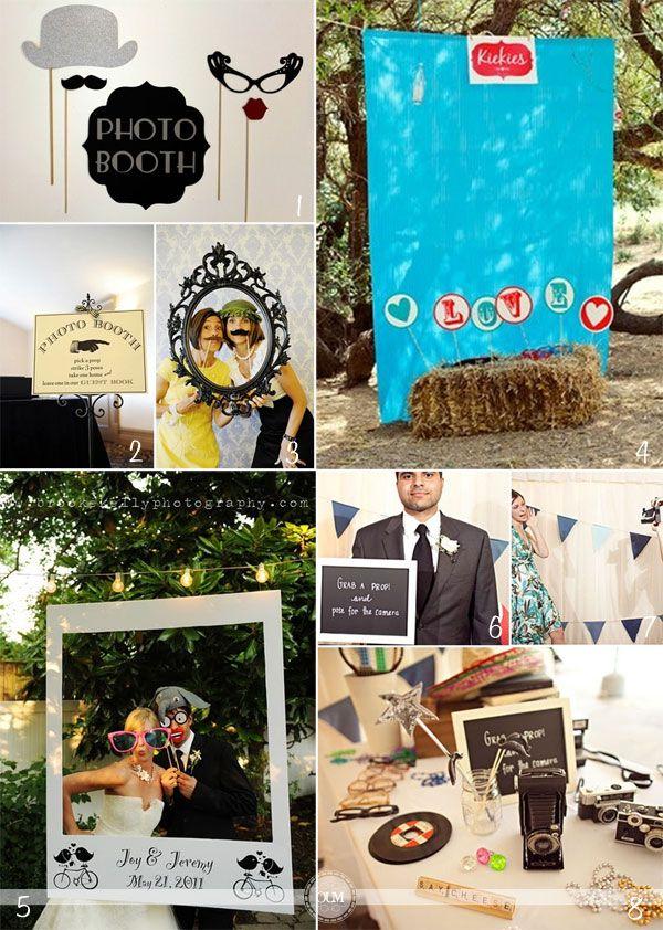 Merci à Caroline de nous proposer 66 idées d'accessoires et de décor de photobooth (oui oui je les ai comptées ! ) dans l'espace «photos» (photos/réception/ photobooth) : des moustaches, des chapeaux, des canapés, des pompons, des grues, des cocardes, des cadres, des tableaux … Vous trouverez plein d'idées, en voici quelques exemples : {
