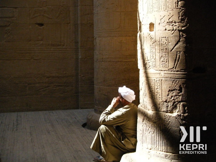 """In light of recent developments, we'll be posting some nice photos of Egypt to get people to consider visiting it again! Here's a nice photo from a Kepri Expedition of a """"Saidi"""" at the Karnak Temple, in Luxor..."""