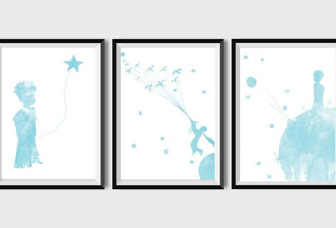 The Little Prince Little Prince poster Inspiration Illustration Watercolor Nursery wall art Customizable Quote  Little Prince prints by LittleCrazyDoughnut on Etsy https://www.etsy.com/listing/483434205/the-little-prince-little-prince-poster