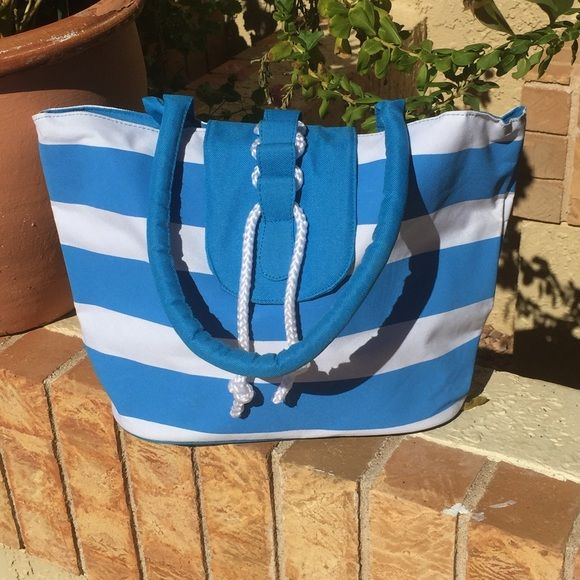 Blue and white tote bag Lightly worn marks inside not outside Bags Totes