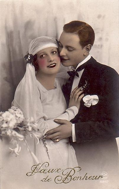 Bride and groom, c. 1930.