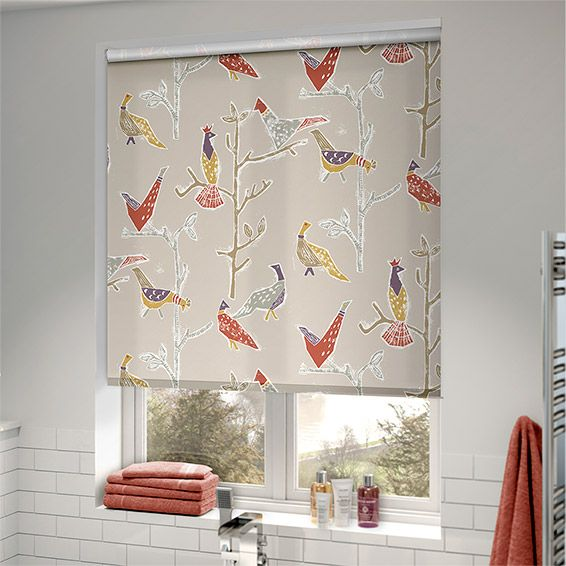 Named after the beautiful and colourful Portuguese bird, the Passaro Natural roller blind brings a taste of the exotic indoor and saffron, mustard and grape makeup the gorgeous colour palette.