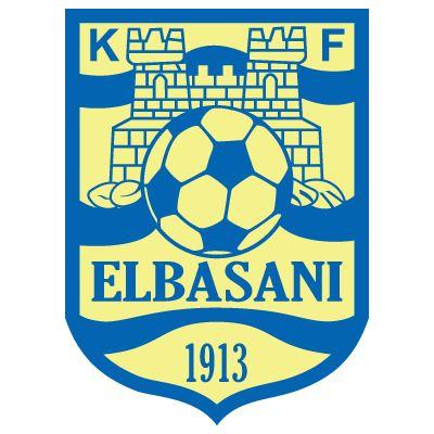 KF ELBASANI (from the city of Elbasan)  logo with former clubname KS LABINOTI on this board - also named KS ELBASANI (KS=Klubi Sport - KF= Klubi i Futbollit)
