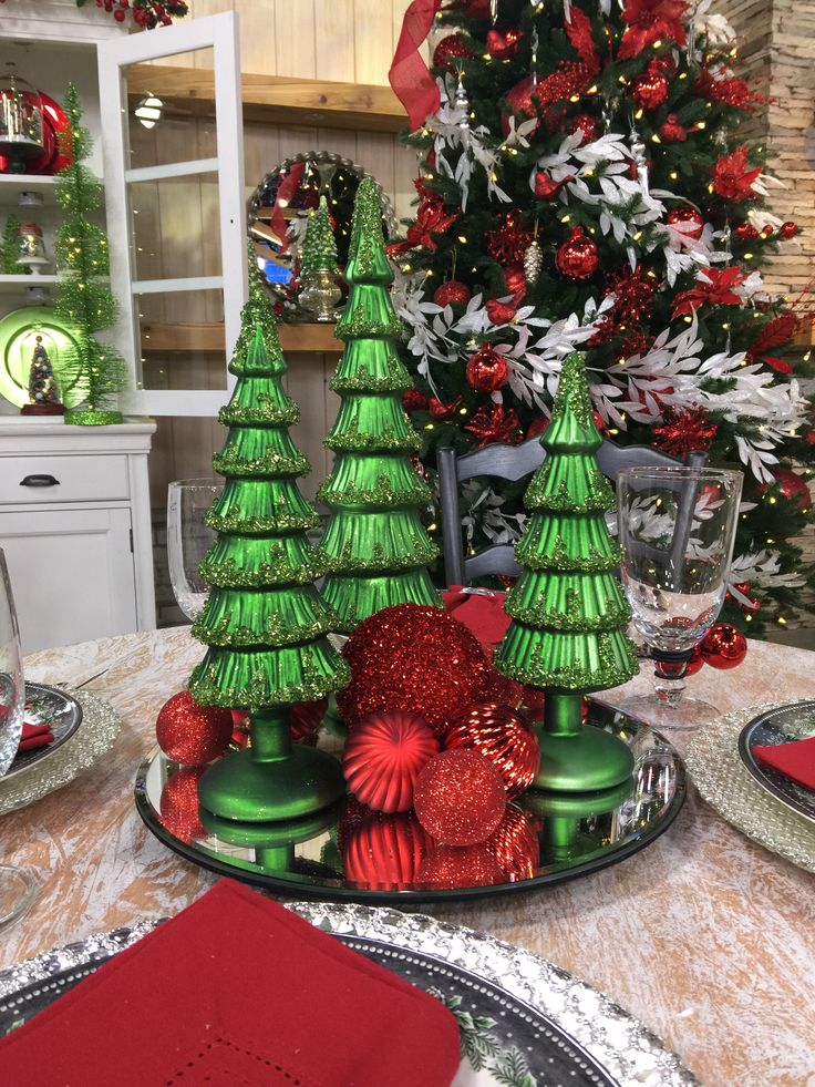 Valerie Parr Hill Christmas Tablescapes Decor Ideas Table Scapes Qvc Dining Rooms