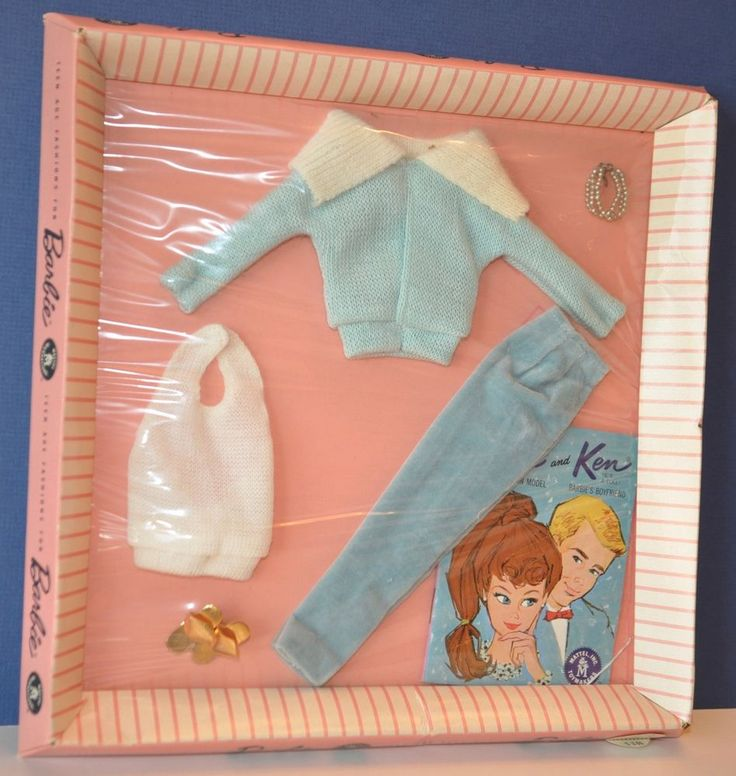 "VINTAGE Barbie Clothes from 1958 - NRFB - MATTEL #940 ""Mood for Music"" RARE"