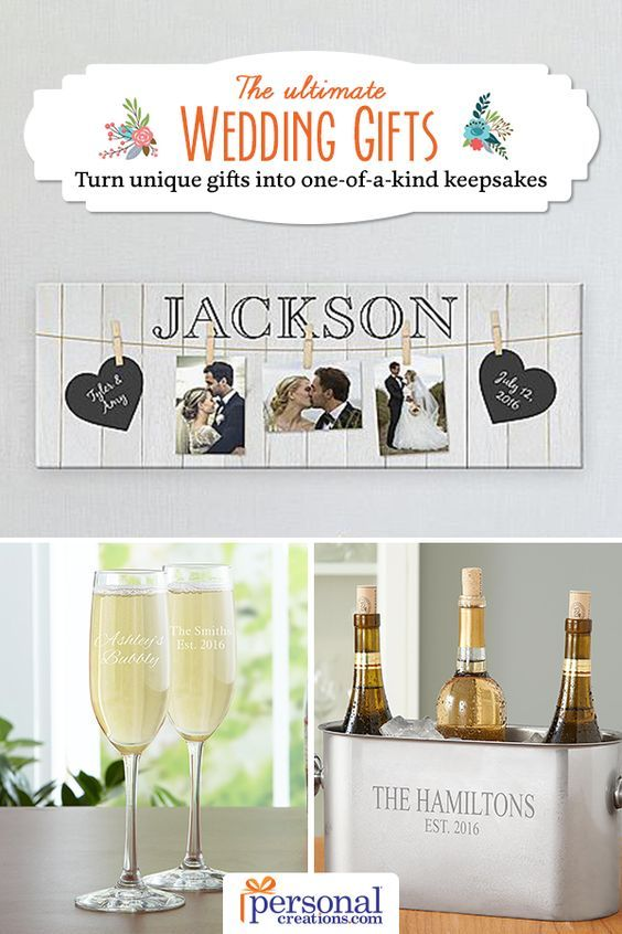 Looking for a special way to celebrate the soon-to-be bride and groom? Share in the joy and excitement of this new life chapter than with unique personalized engagement gifts from Personal Creations. Shop for traditional engagement gift ideas like engraved crystal champagne flutes or stylish wall art to decorate their new home that you know will fit every couple's taste.