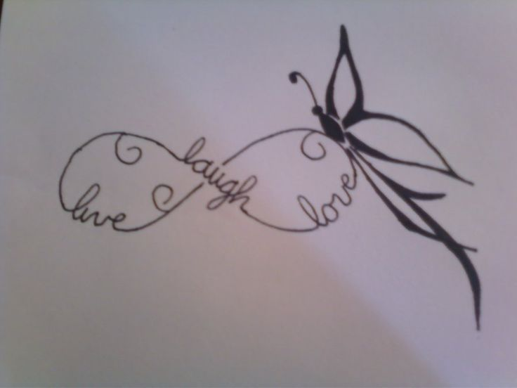 "I like the idea of this tattoo, but instead of the words ""live, laugh, love"" it would have ,y kids names"