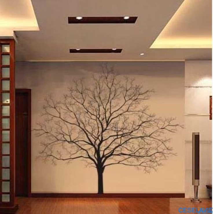 100x100cm DIY Decorative Wall Paperu0026Art Sticker (tree)QZ108