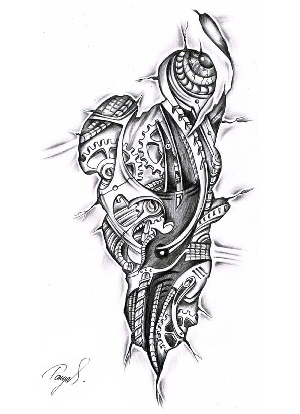 tattoo skizzen biomechanik - Google-Suche