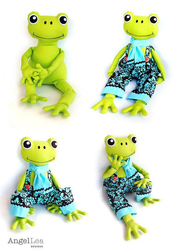 Frog Pattern. Stuffed Frog PDF Sewing Pattern. von AngelLeaDesigns