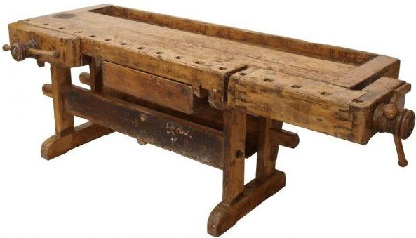 Once used by Belgian carpenters in the 1880s, this antique workbench is a statement piece for your entryway, kitchen, library, or any living space.