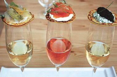 appetizers that go with champagne - Google Search