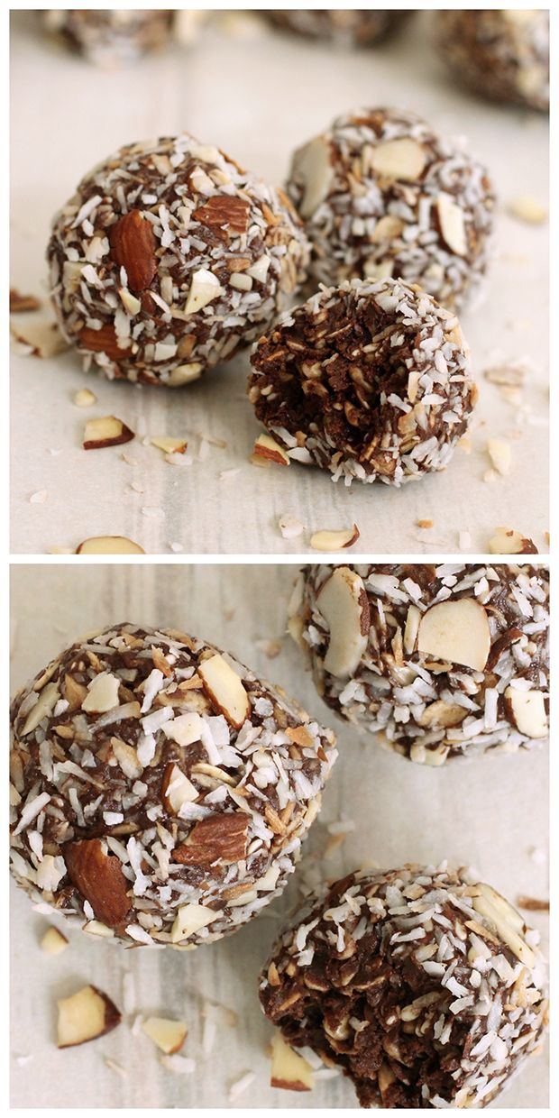 No Bake Energy Balls - Who doesn't enjoy a sweet, chocolatey treat from time to time. I know there are moments when I just have to have something sweet, especially after a meal or for a mid-aftern...